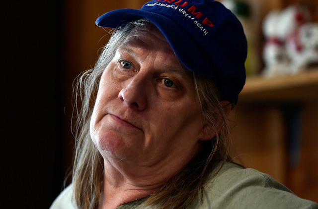 Gail Morehead shares her political feelings from behind the counter at the International Cafe & Bar Wednesday, June 8, 2016, in Austin, Nev. Morehead and her partner Victor Antic are proud sup ...
