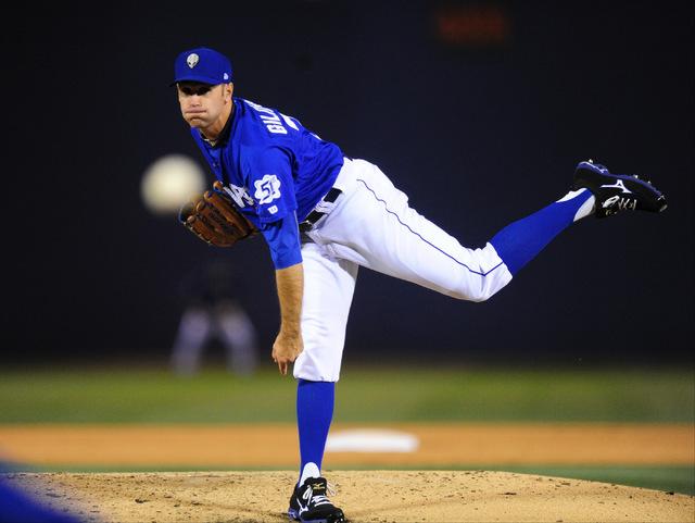 Las Vegas 51s pitcher Sean Gilmartin, seen May 24, 2016. (Josh Holmberg/Las Vegas Review-Journal)