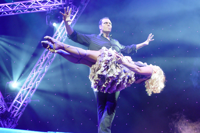 Brett Daniels, a magician who performs outside Las Vegas, says his signature levitation illusion ended up in Criss Angel's new show without his consent. (Courtesy)