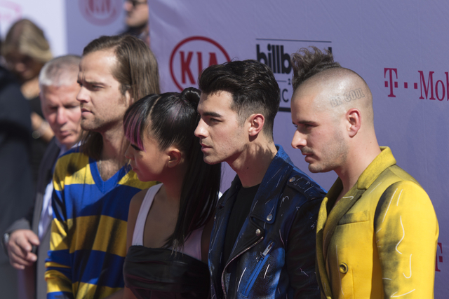 DNCE arrives on the red carpet during the Billboard Music Awards at T-Mobile Arena on May 22, 2016, in Las Vegas. (Jason Ogulnik/Las Vegas Review-Journal)