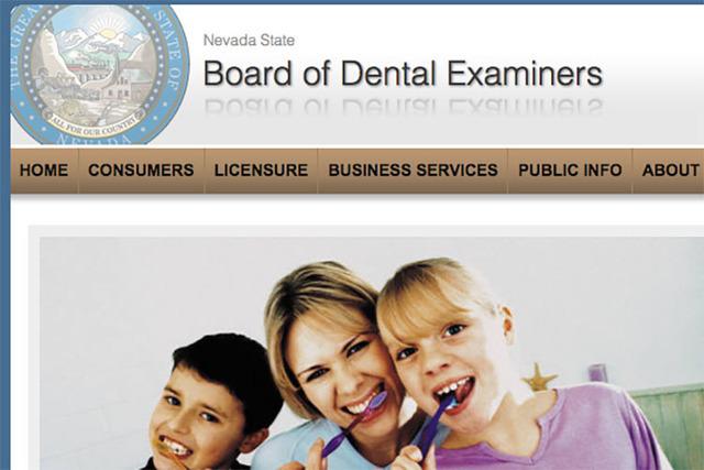 Screengrab (Nevada State Board of Dental Examiners)