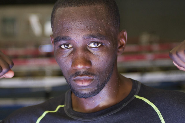 Boxer Terence Crawford poses for a photo during media day workouts at the Top Rank boxing gym in Las Vegas on Tuesday, July 19, 2016. (Richard Brian/Las Vegas Review-Journal) Follow @vegasphotograph