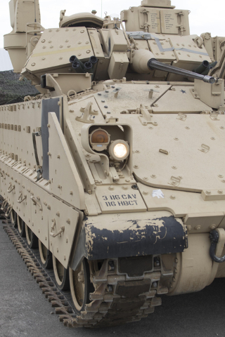 An A-3 Bradley fighting vehicle is seen during a training exercise at the Clark County Armory on Friday, July 29, 2016. Richard Brian/Las Vegas Review-Journal Follow @vegasphotograph