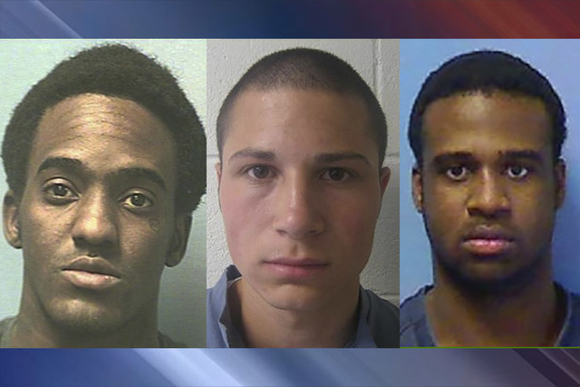 Three of the four men indicted in the fatal shooting of Aric Brill in 2009. From left to right: Devonte Wash, Nadin Hiko and Devon Phillips. (Nevada Department of Corrections)