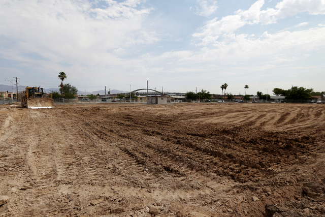 The construction site for Lincoln Elementary school is seen in North Las Vegas on Tuesday, June 21, 2016. Rachel Aston/Las Vegas Review-Journal Follow @rookie__rae
