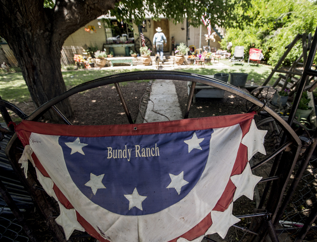 Arden Bundy walks to the family home at the Bundy Ranch in Bunkerville, Nev., on Thursday, May 19, 2016. Jeff Scheid/Las Vegas Review-Journal Follow @jlscheid