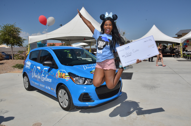 One Clark County School District high school senior was the winner of a new Chevy Spark and $1,000 in car insurance, during the 10th annual Drive for Excellence event at Wet'n'Wild Las Vegas. Chlo ...