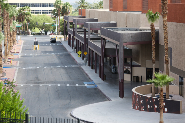 Entrances to the Cashman Center in Las Vegas are seen on Thursday, July 28, 2016. The two are being considered as a location for the proposed NFL stadium. (Brett Le Blanc/Las Vegas Review-Journal  ...