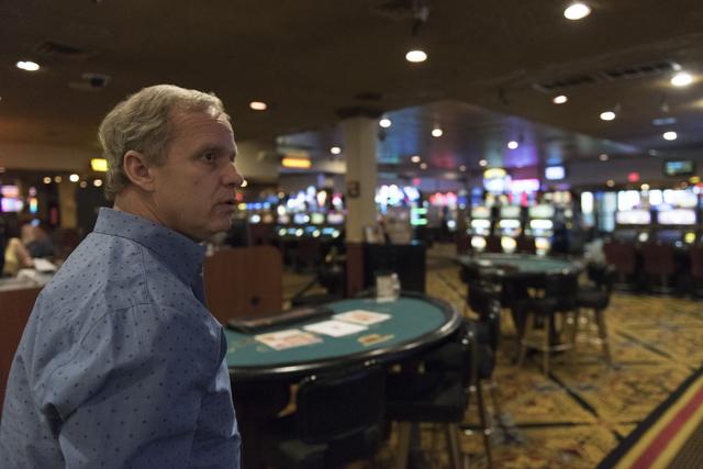 Joe DeSimone, owner of Railroad Pass hotel-casino, walks on the casino floor in Henderson Friday, July 29, 2016. The hotel-casino celebrates its 85th anniversary this Monday. Jason Ogulnik/Las Veg ...