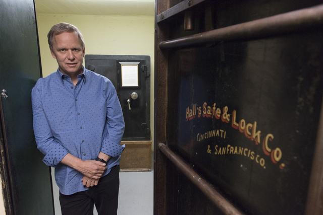 Joe DeSimone, owner of Railroad Pass hotel-casino, poses inside the original vault in Henderson Friday, July 29, 2016. The hotel-casino celebrates its 85th anniversary this Monday. Jason Ogulnik/L ...