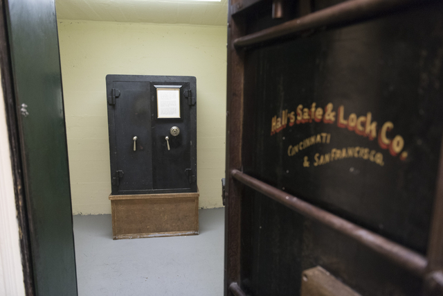 The original vault at Railroad Pass hotel-casino in Henderson is seen Friday, July 29, 2016. The hotel-casino celebrates its 85th anniversary this Monday. Jason Ogulnik/Las Vegas Review-Journal