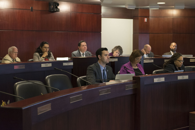 Legislative committee members meet to discuss reorganization plans for the Clark County School District at the Sawyer Building in Las Vegas Friday, July 1, 2016. (Jason Ogulnik/Las Vegas Review-Jo ...