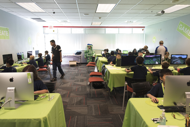 Students work in the lab during the iD Tech camp at UNLV in Las Vegas Wednesday, June 29, 2016. The weeklong summer camp in technology is for ages 7-17 years. (Jason Ogulnik/Las Vegas Review-Journal)