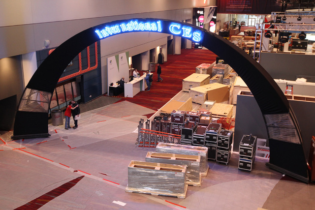 The main hall of the Las Vegas Convention Center is seen during set up for the 2015 International Consumer Electronics Show Friday, Jan. 2, 2015. (Sam Morris/Las Vegas Review-Journal)
