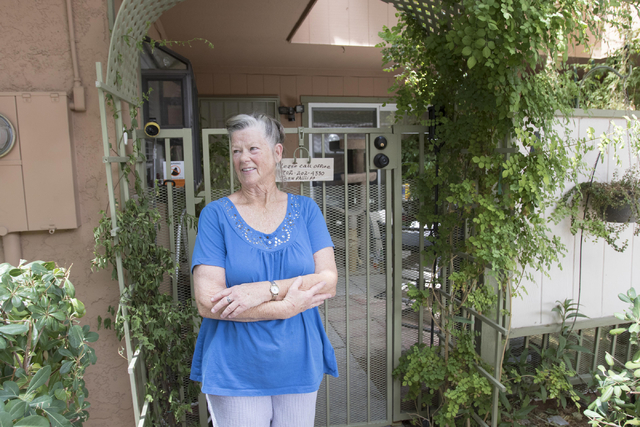 Crossroad One condominiums homeowner association president Tori Bridges-Hudson, 69, pauses for a photo outside her home on Friday, July 29, 2016. Richard Brian/Las Vegas Review-Journal Follow @veg ...
