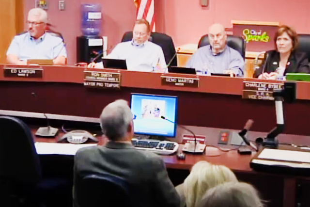 City Council in Sparks, Nevada. (Screengrab/News4)