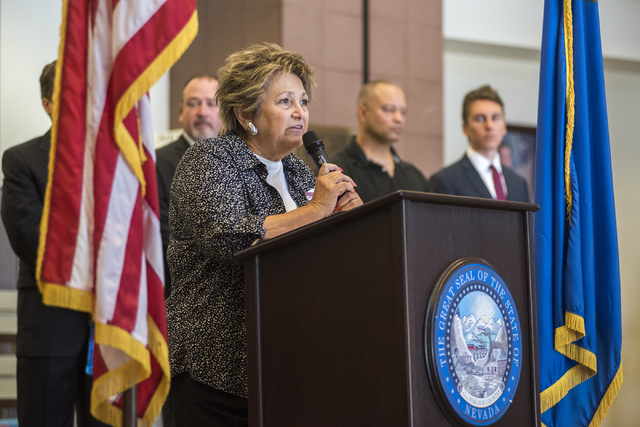 Republican Assembly candidate Tina Trenner of District 36 speaks during an event in Las Vegas on Wednesday, May 25, 2016. (Martin S. Fuentes/Las Vegas Review-Journal)