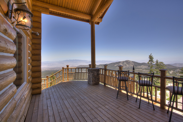 COURTESY This Mount Charleston cabin has more than 3,000 square feet of deck.