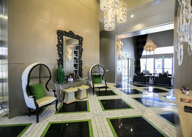 The lobby of The Elysian at the District in Henderson. (Elke Cote/RJRealEstate.Vegas)