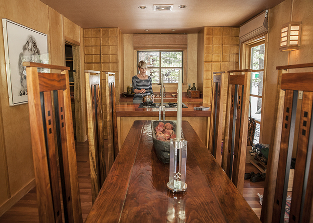Dr. Jean McCusker built her Lee Canyon cabin 20 years ago as a vacation house. (Elke Cote/Real Estate Millions)
