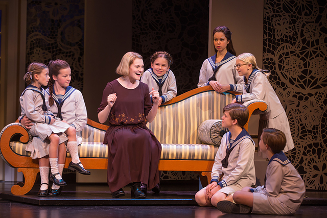 "New governess Maria Rainer (Kerstin Anderson) introduces the Von Trapp children to the magic of music by singing ""Do, Re, Mi"" in the new ""Sound of Music"" tour. MATTHEW MURPHY/COURTESY THE SMITH CE ..."