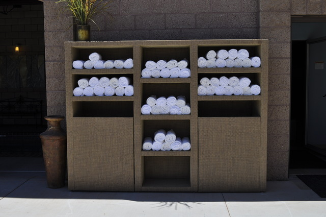 COURTESY SOMERS FURNITURE This storage unit withstands the elements of the Las Vegas summer.