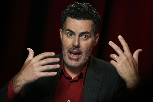 "In this Thursday, May 28, 2015 photo, Adam Carolla speaks during and interview in New York. Carolla, the father of 9-year-old twins, speaks volumes in the title of his latest book, ""Daddy ..."