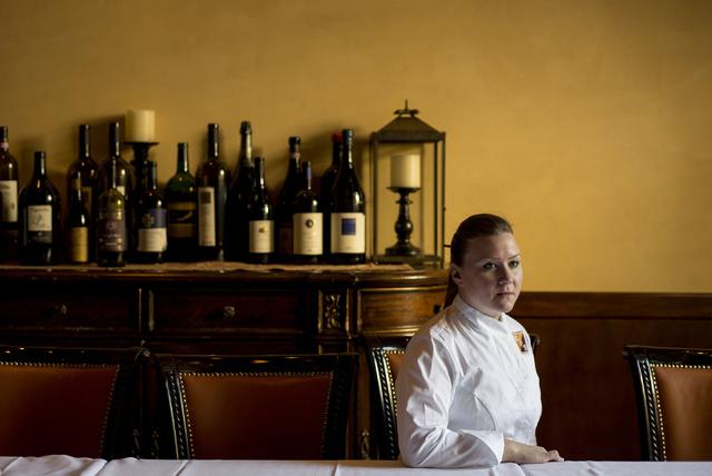 Batali & Bastianich Hospitality Group's culinary director Nicole Brisson poses for a portrait at Carnevino in Las Vegas on June 15, 2016. (Bridget Bennett/Las Vegas Review-Journal) Follow @bri ...