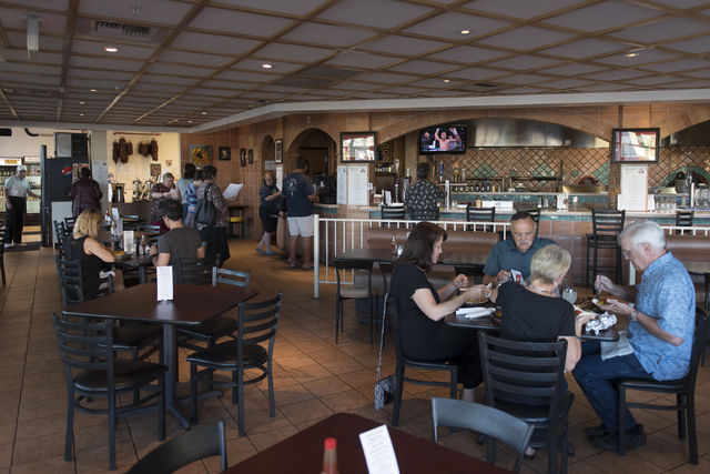 The dining area of Carlito's Burritos/Live Fire Q at 4300 E. Sunset Rd. in Henderson is seen Friday, July 15, 2016. Jason Ogulnik/Las Vegas Review-Journal