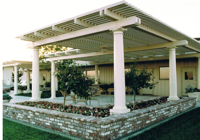 COURTESY DURA-KOOL Freestanding gazebos are also known as stand-alone patio covers, or freestanding patio covers.  These structures usually incorporate a lattice design but also can be constructed ...