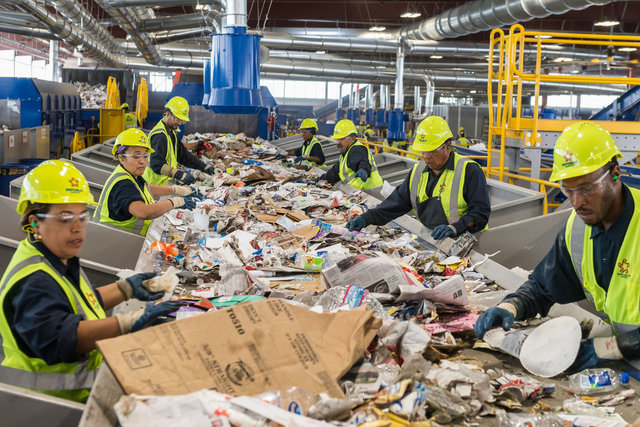 COURTESY REPUBLIC Republic's new Southern Nevada Recycling Center houses massive optical sorters, where more than 160 full-time employees monitor various machines that sort our recyclables