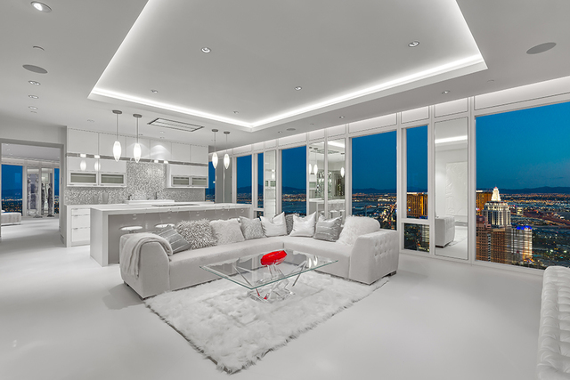 This 3,980-square-foot, two-bedroom, two-bath penthouse sold for $6.5 million – an astounding $1,633 per square foot – on July 5. (Courtesy of Luxury Estates International)