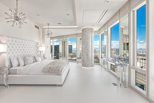 One of the two bedrooms. (Courtesy of Luxury Estates International)