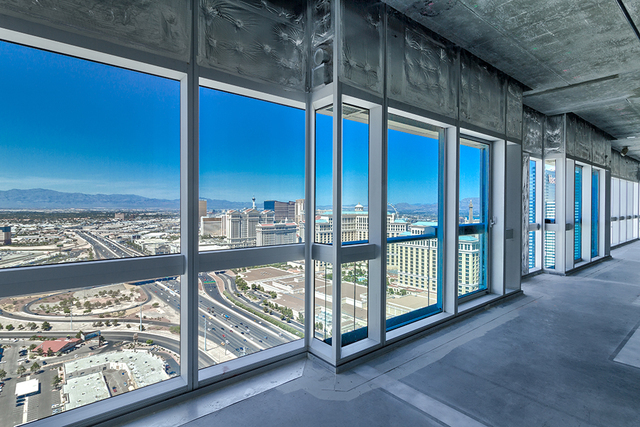 This Martin gray shell penthouse is 4,826 square feet on the 43rd floor. The unit is available for $1.8 million. (Courtesy of Award Realty)