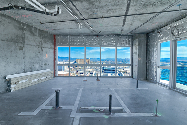 The Martin penthouse has sweeping vies of the Strip. (Courtesy of Award Realty)