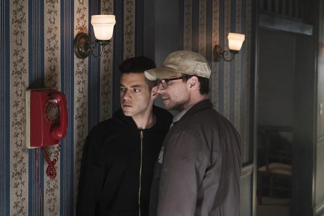 MR. ROBOT -- Pictured: (l-r) Rami Malek as Elliot Alderson, Christian Slater as Mr. Robot -- (Photo by: Peter Kramer/USA Network)