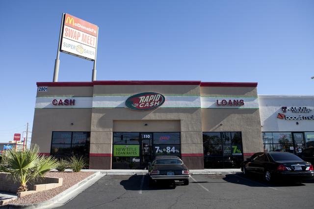 Rapid Cash, a payday lending office, is seen on Washington Avenue in Las Vegas on Thursday, June 7, 2016. Loren Townsley/Las Vegas Review-Journal Follow @lorentownsley