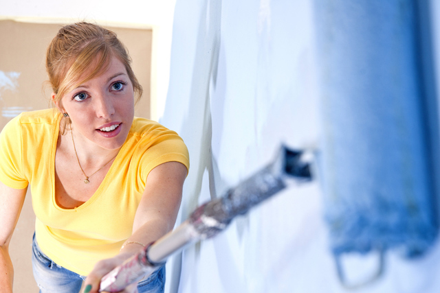 THINKSTOCK Painting a room is one project that can usually be done by the homeowners.