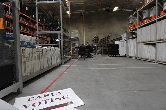 The Clark County Election Department warehouse, 965 Trade Drive, in North Las Vegas is seen during a tour Monday, April 27, 2015. Erik Verduzco/Las Vegas Review-Journal Follow @Erik_Verduzco