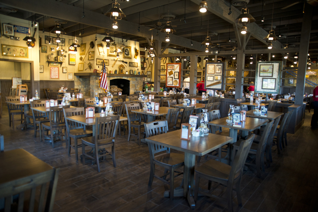 The main dining room is shown at the new Cracker Barrel location near the Silverton hotel-casino in Las Vegas on Monday, July 18, 2016. The restaurant and store will have its grand opening Monday, ...