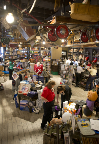 Goods are arranged for sale at the new Cracker Barrel location near the Silverton hotel-casino in Las Vegas on Monday, July 18, 2016. The restaurant and store will have its grand opening Monday, J ...