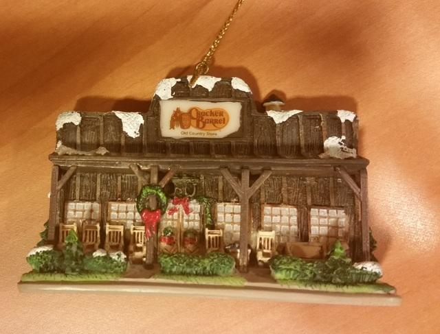 "Winifred ""Winnie"" Garvin's Cracker Barrel Christmas ornament. (Courtesy)"