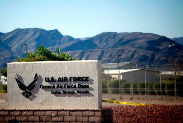 Creech Air Force Base in Indian Springs. (Jessica Ebelhar/Las Vegas Review-Journal file)