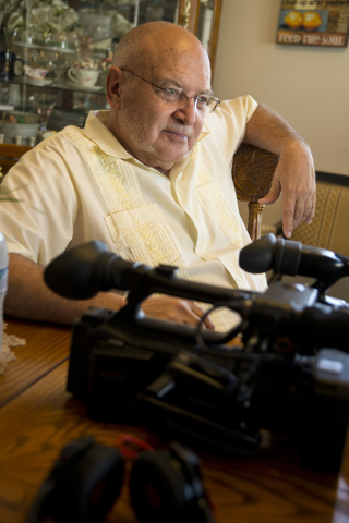Richard Kashanski, a local videographer, speaks with a reporter in his Henderson home on Monday, July 11, 2016. Kashanski is part of a team that has helped to uncover new evidence about the D.B. C ...