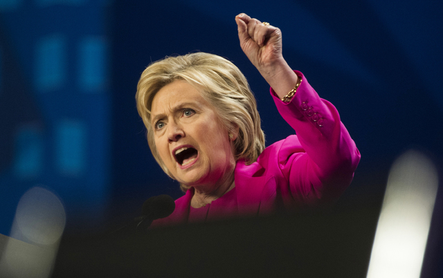 Democratic presidential candidate Hillary Clinton speaks in Washington on July 5. (Molly Riley/The Associated Press)