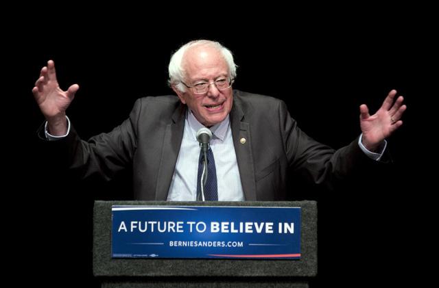 Sen. Bernie Sanders, I-Vt., speaks in Albany, N.Y., in June. (Mike Groll/The Associated Press)