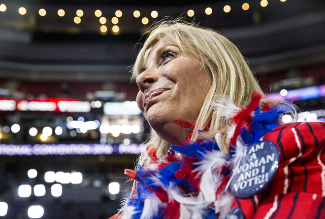 Diana Pittarelli listens to rehearsals before the start of the third day of the Democratic National Convention at the Wells Fargo Center on Wednesday, July 27, 2016, in Philadelphia. Benjamin Hage ...
