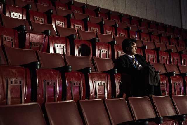 Takahashi Yusuke reads in the stands before the start of the third day of the Democratic National Convention at the Wells Fargo Center on Wednesday, July 27, 2016, in Philadelphia. Benjamin Hager/ ...
