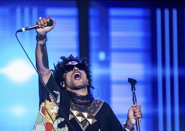 Lenny Kravitz performs during the third day of the Democratic National Convention at the Wells Fargo Center on Wednesday, July 27, 2016, in Philadelphia. Benjamin Hager/Las Vegas Review-Journal