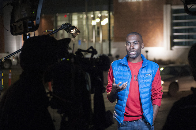 DeRay Mckesson, 30, is one of the most visible organizers of the Black Lives Matter movement that sprung up in the wake of the Ferguson, Mo., protests. (Washington Post)
